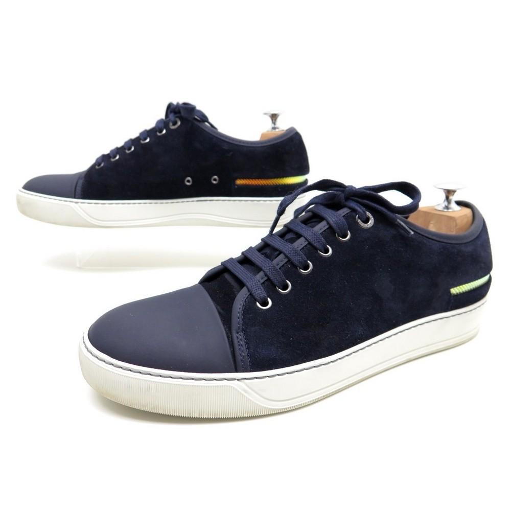 5d8da60785 chaussures lanvin dbb1 8 42 baskets en daim bleu