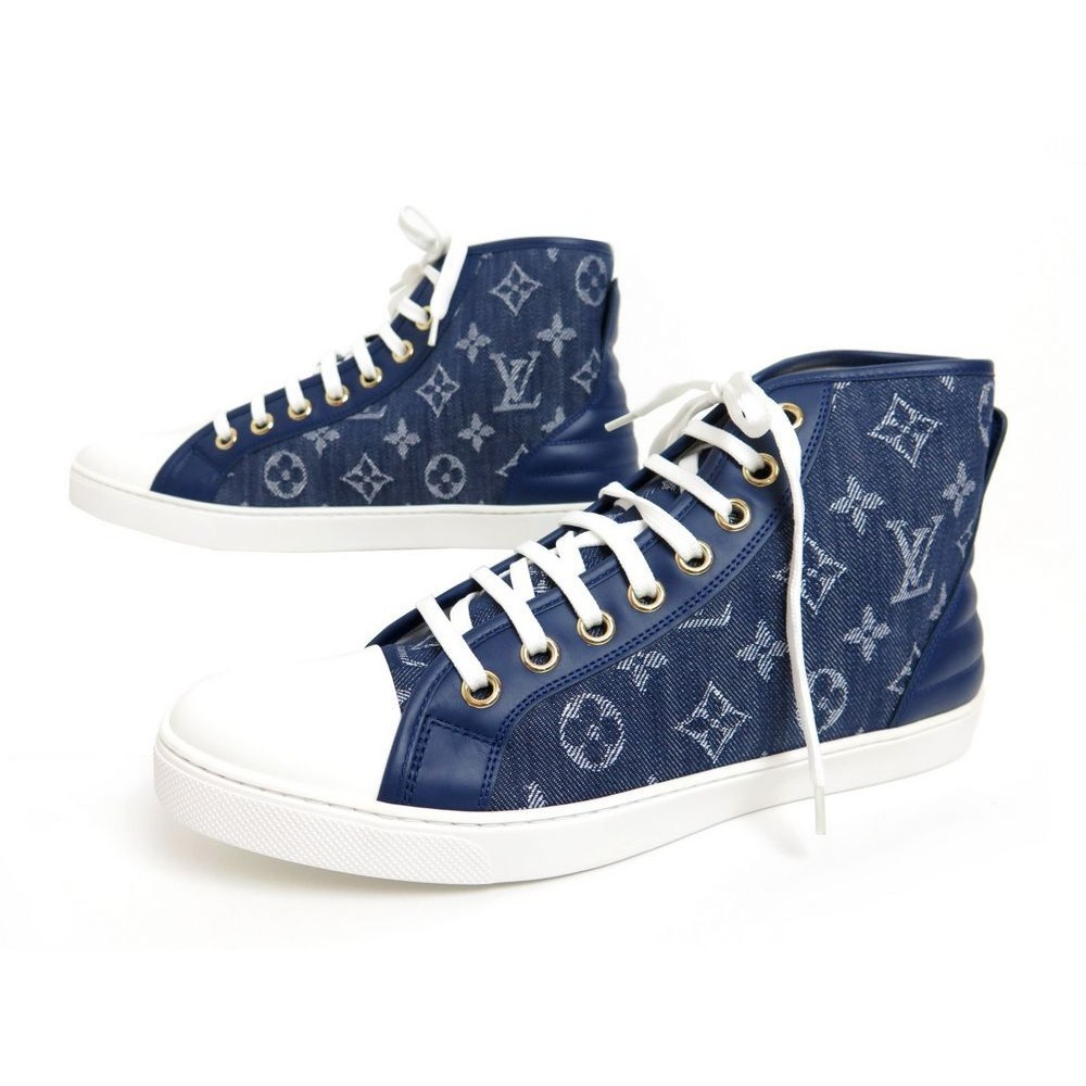 NEUF CHAUSSURES LOUIS VUITTON SNEAKERS PUNCHY MONOGRAM 40 BLEU. Loading zoom edb22dc9e6a