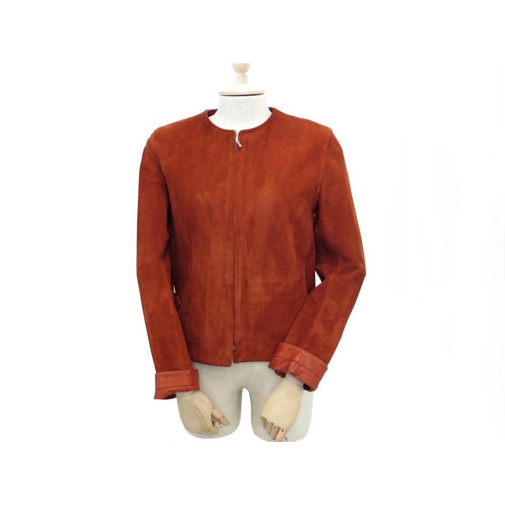 veste hermes femme 36 s blouson cuir velours suede b0a49e17886