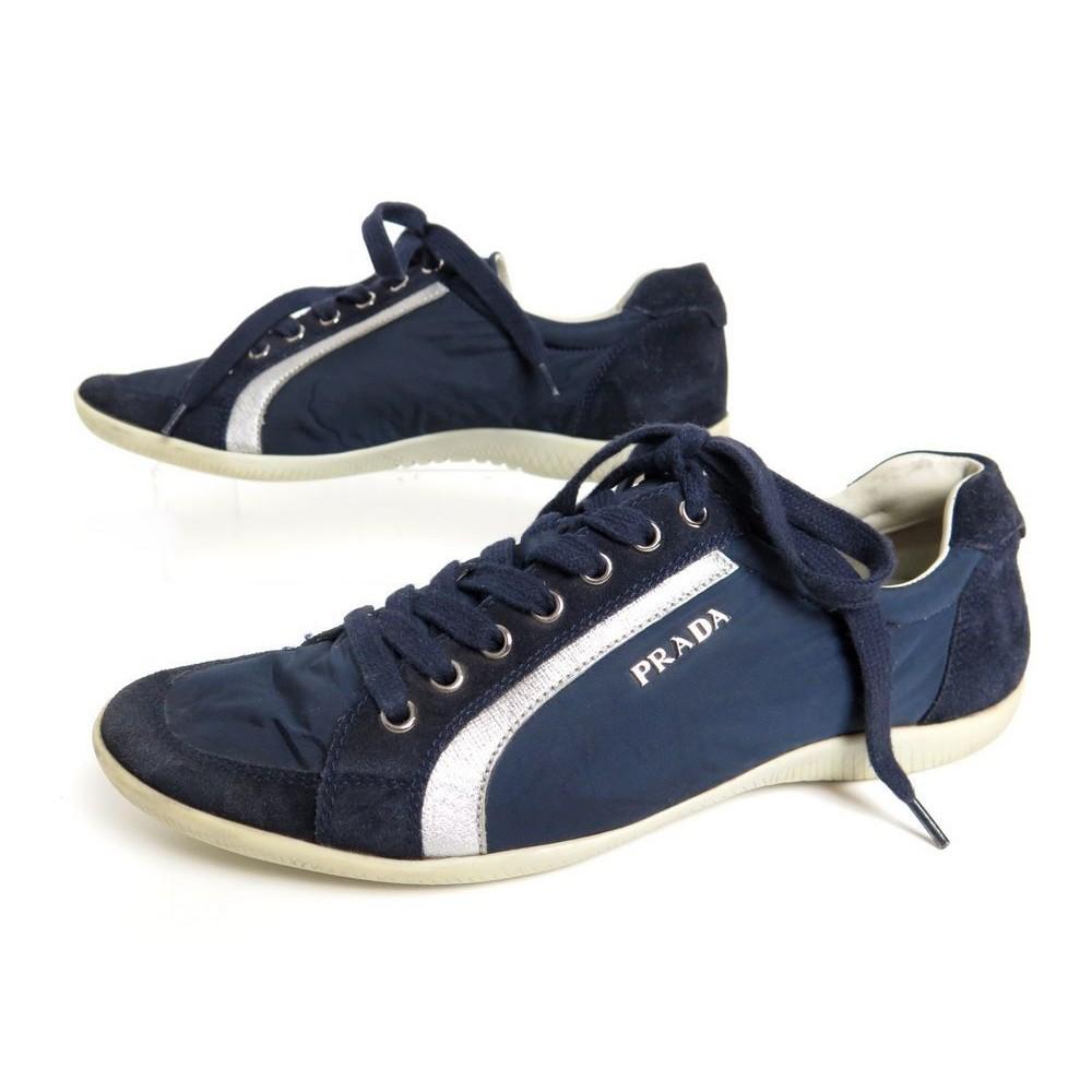 mode de vente chaude grande remise faire les courses pour chaussures prada 37 baskets 3e4890 en daim bleu blue