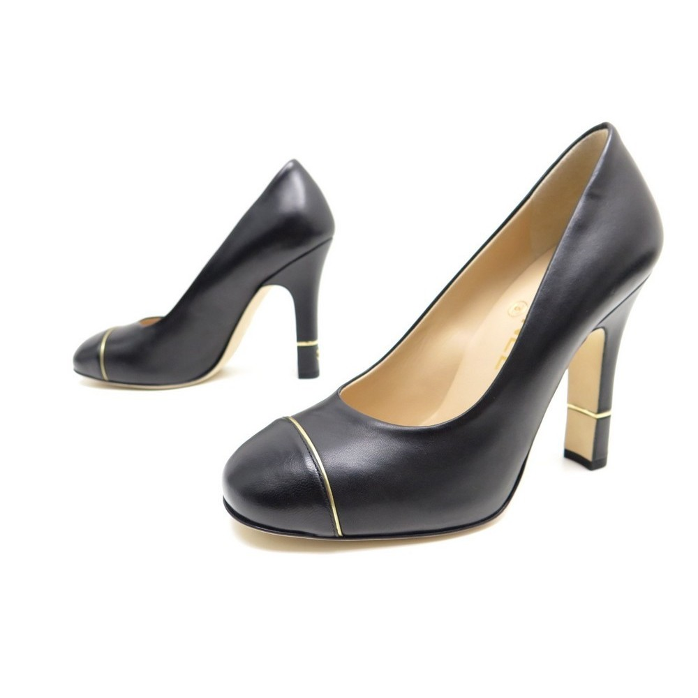 Chaussures Chanel G32118 36 5 Escarpins En Cuir