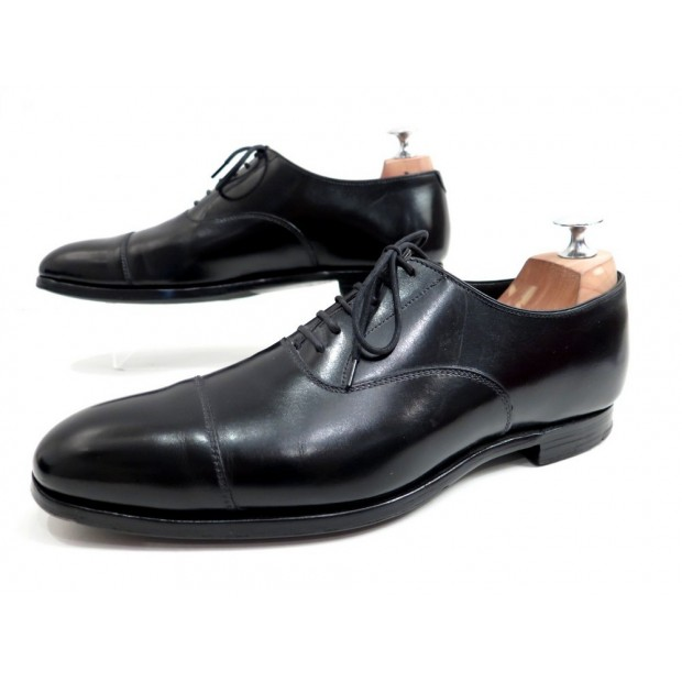 CHAUSSURES CROCKETT & JONES LONSDALE 6 40 RICHELIEUX EN CUIR NOIR SHOES 580€