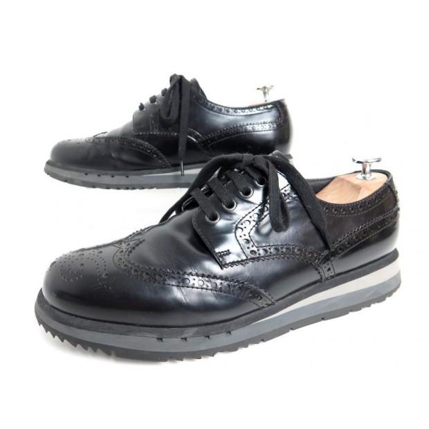 ab2a83f698d6 chaussures prada 4e2339 7 41 derby en cuir glace noir