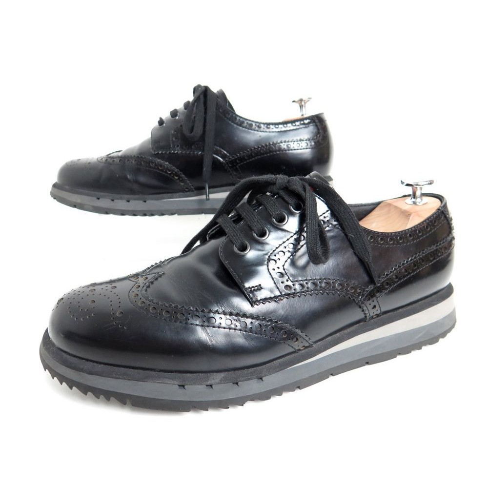 17754a454deb4 chaussures prada 4e2339 7 41 derby en cuir glace noir
