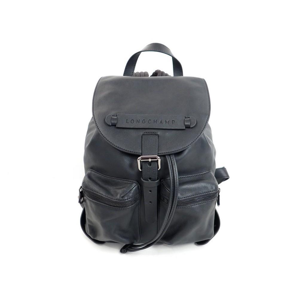 sac a dos longchamp 3d 28 cm en cuir noir black