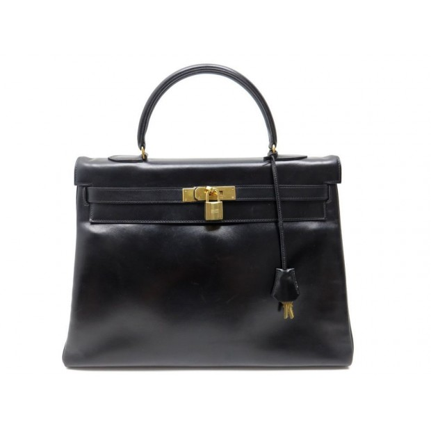 sac a main hermes kelly 35 cm en cuir box noir ec5f8eb4c84