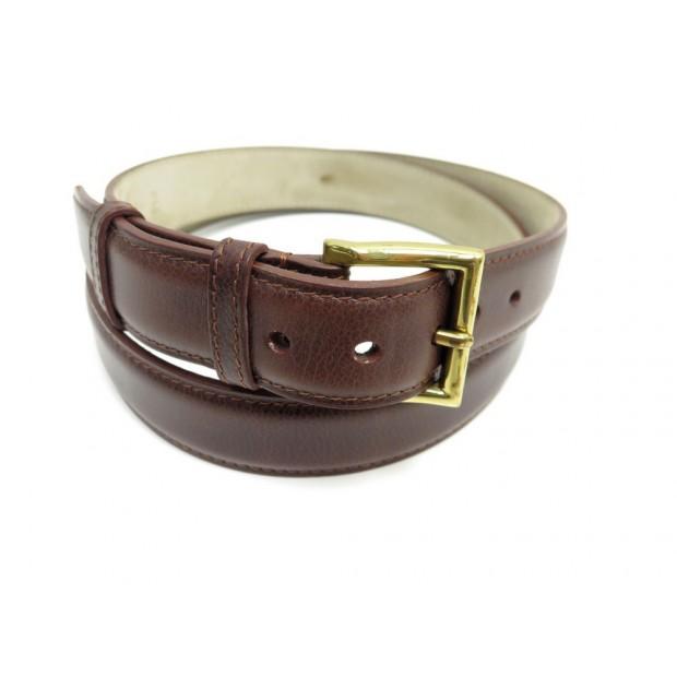 ceinture john lobb square t 110 en cuir marron homme 4979593a23d