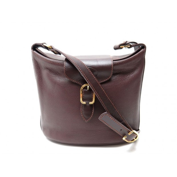 28bc13f0fb sac a main longchamp bandouliere cuir graine marron