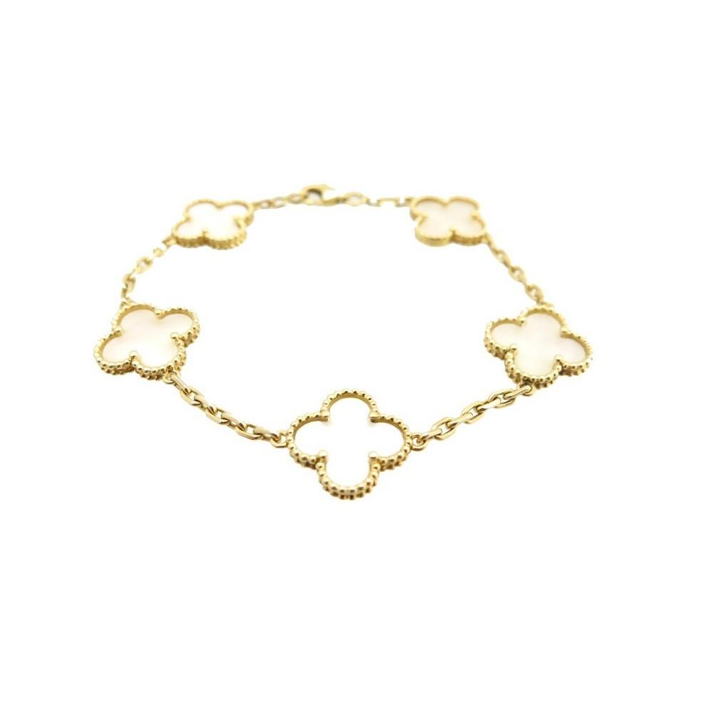 Cleef Alhambra Trefle Or Arpels Bracelet Van 58qt7