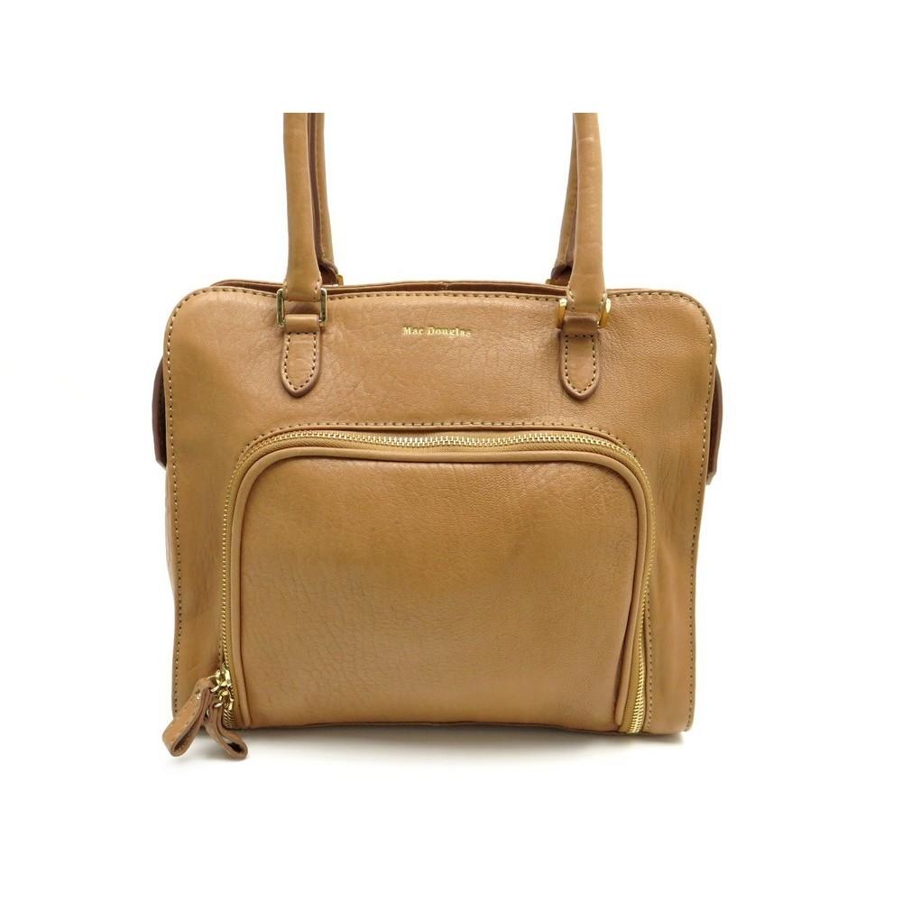 bfd70c86651 sac a main mac douglas cabas 29 cm en cuir marron