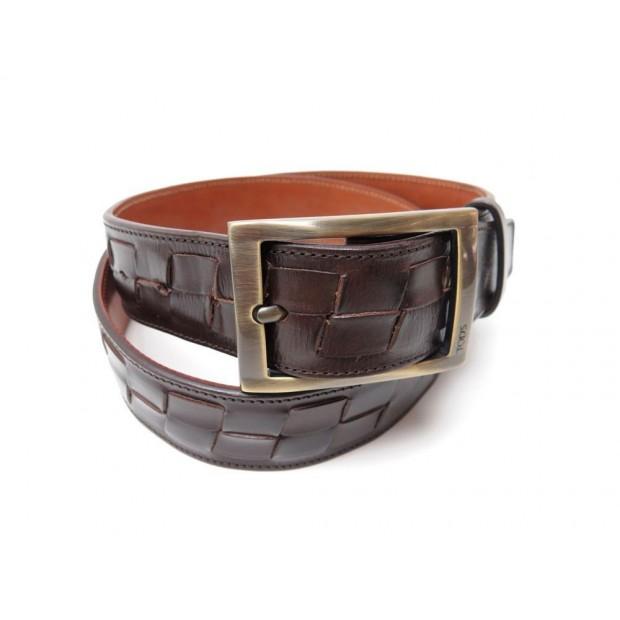 ceinture tod s t 95 homme en cuir tresse marron brown 5d2413d07a5