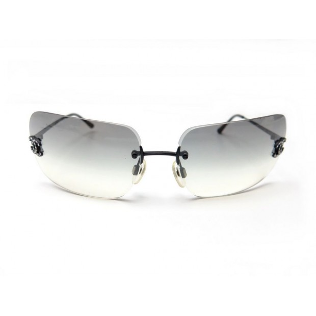 lunettes de soleil chanel 4017 d en metal noir logo cc 3cb2388a5553