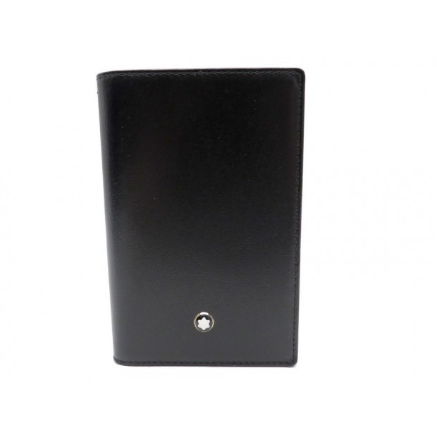 NEUF ETUI PORTE CARTES BUSINESS MONTBLANC 30304 EN CUIR NOIR CARD HOLDER 155€