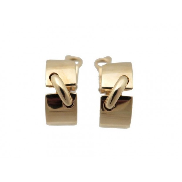 NEUF BOUCLES D OREILLES CHAUMET LIENS EN OR JAUNE 18K 11GR GOLD EARRINGS 2200€