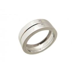 BAGUE FRED WEDDING SMILE T 51 EN OR BLANC 8.5 GR FEMME BIJOUX GOLD RING 1800€