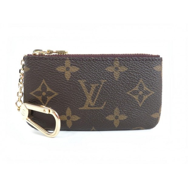 NEUF POCHETTE CLE LOUIS VUITTON 12 CM TOILE MONOGRAM LV CANVAS KEYS HOLDER 135€
