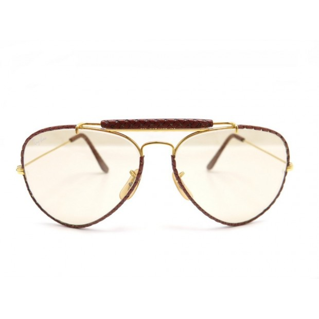 lunettes de soleil ray ban leather aviator b7291fadbc94