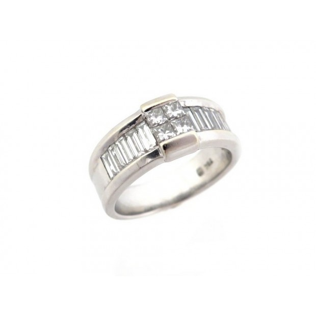 BAGUE EN OR BLANC 8.4 GR SERTIE 14 DIAMANTS 1.11 CT GOLD & DIAMONDS RING 3960€
