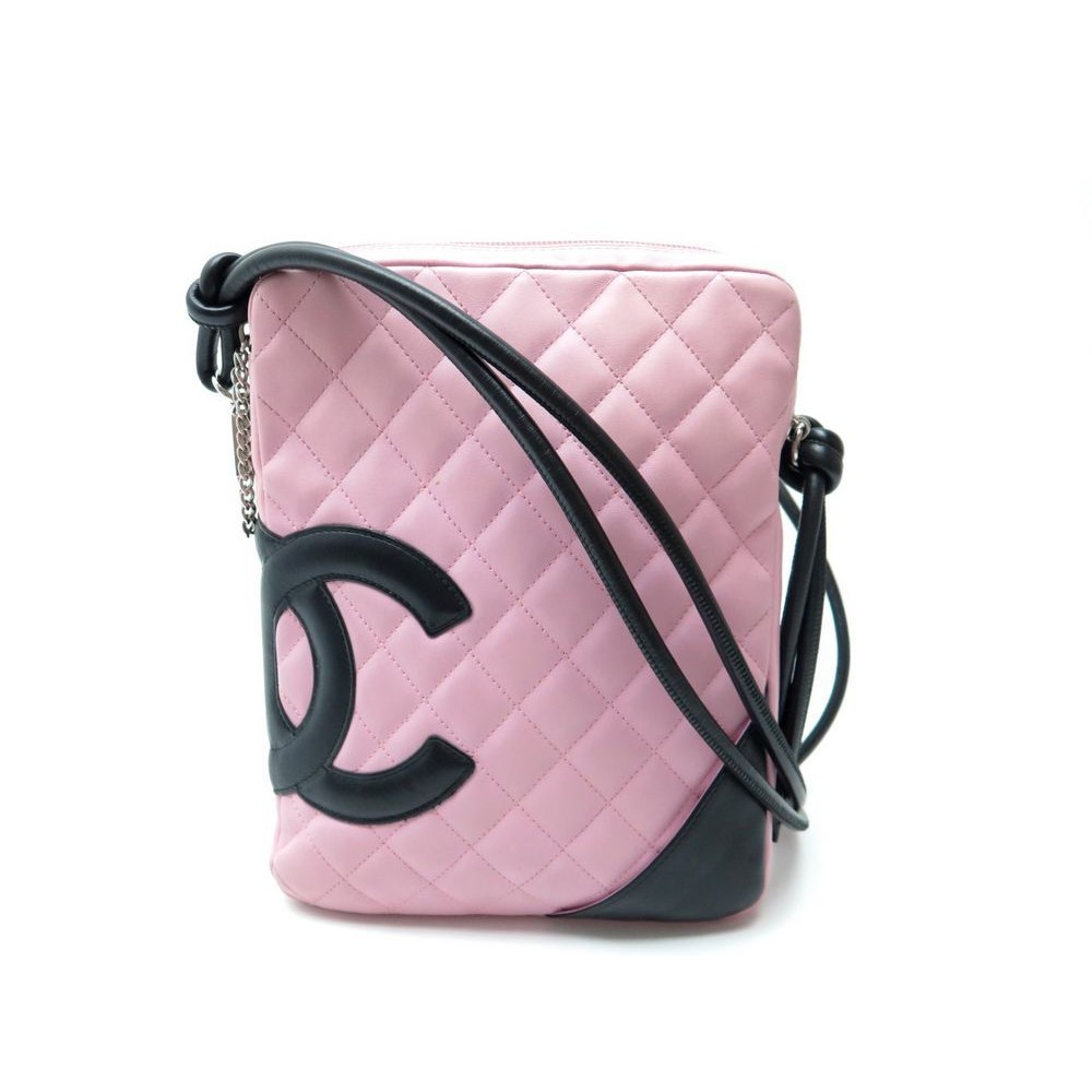 7775ccf877d SAC A MAIN CHANEL CAMBON BESACE BANDOULIERE EN CUIR ROSE HAND BAG PURSE  1800€. Loading zoom
