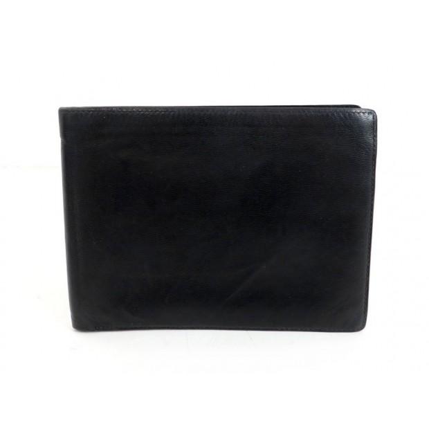 VINTAGE PORTE CARTES HERMES EN CUIR BOX NOIR PHOTOS BLACK LEATHER CARDS HOLDER