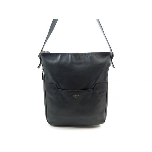 SAC A MAIN LONGCHAMP 2.0 CABAS EN CUIR NOIR BLACK LEATHER HAND BAG PURSE 500€
