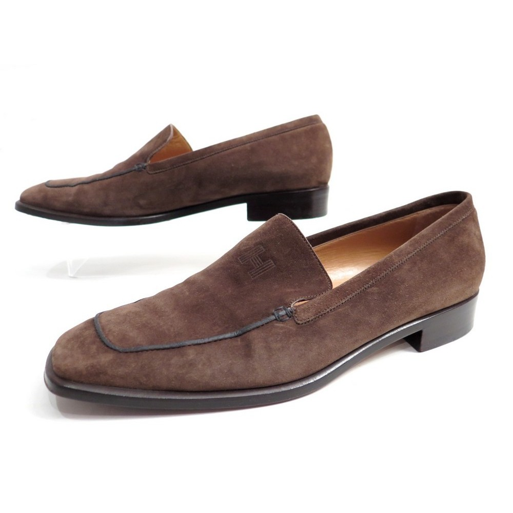CHAUSSURES HERMES FEMME 39.5 MOCASSINS EN DAIM MARRON BROWN DEER SHOES  670€. Loading zoom b106e538787