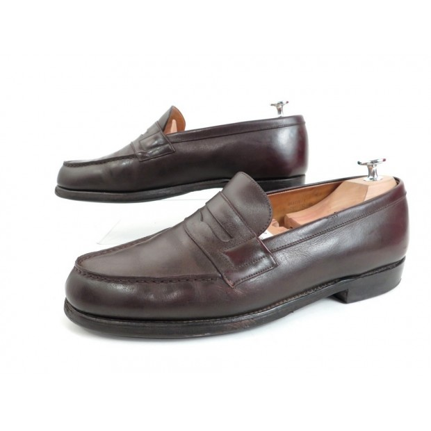 CHAUSSURES JM WESTON MOCASSINS 180 7D EN CUIR MARRON HOMME LOAFER SHOES 630€