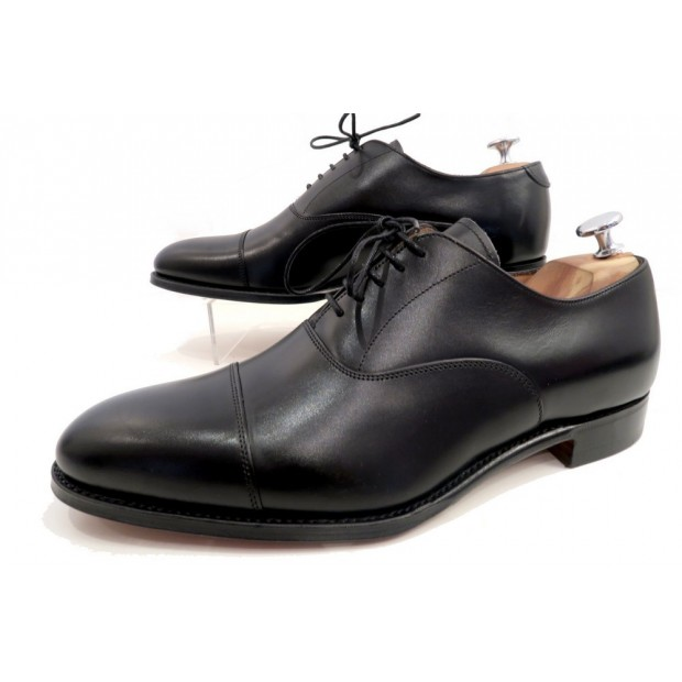 NEUF CHAUSSURES JOSEPH CHEANEY & SONS LIME RICHELIEU 9F 43 CUIR NOIR SHOES 345€
