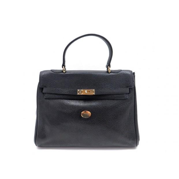 ae883e3198 sac a main mac douglas pyla cabas en cuir graine noir