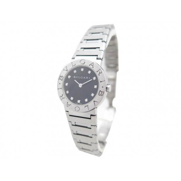 MONTRE BULGARI BB 26 SS CLASSIQUE 26 MM ACIER & DIAMANTS QUARTZ WATCH 5100€