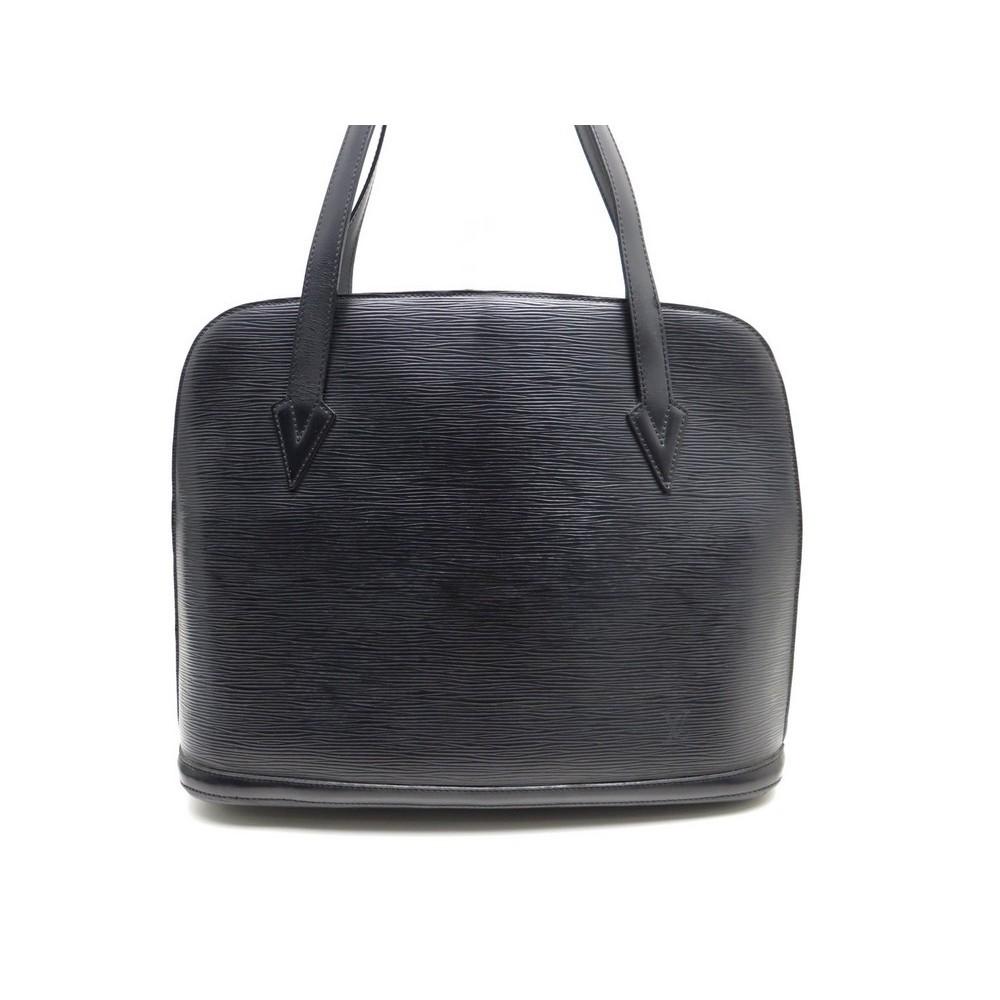 sac a main louis vuitton lussac gm en cuir epi noir