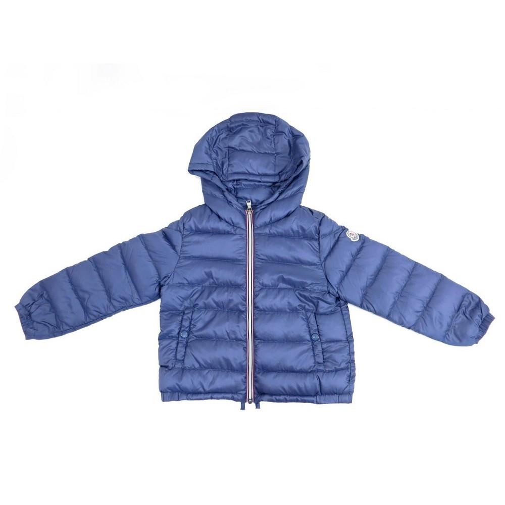 MANTEAU MONCLER DOMINIC ENFANT 3 ANS 100CM DOUDOUNE BLEU BLOUSON COAT 210€.  Loading zoom f498f64f82d