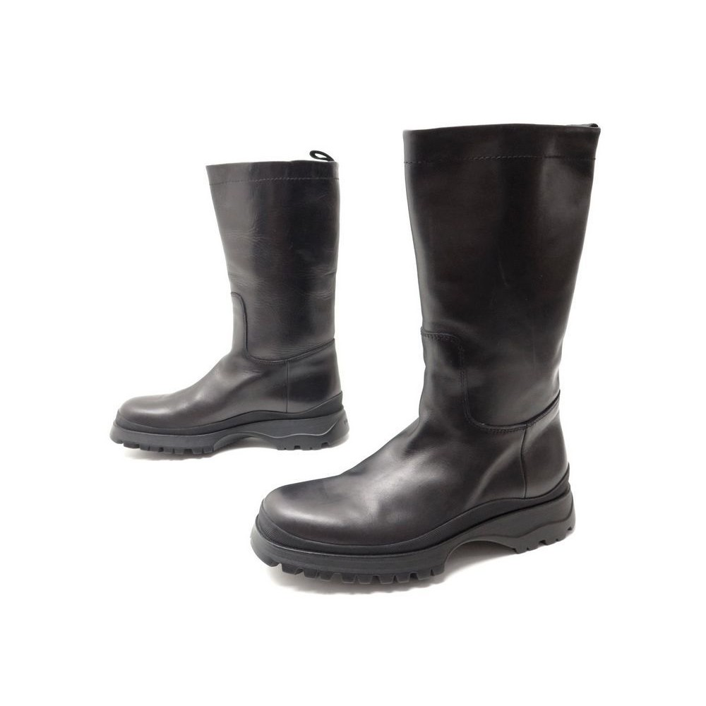 chaussures prada 9 5 43 5 bottes de moto homme. Black Bedroom Furniture Sets. Home Design Ideas
