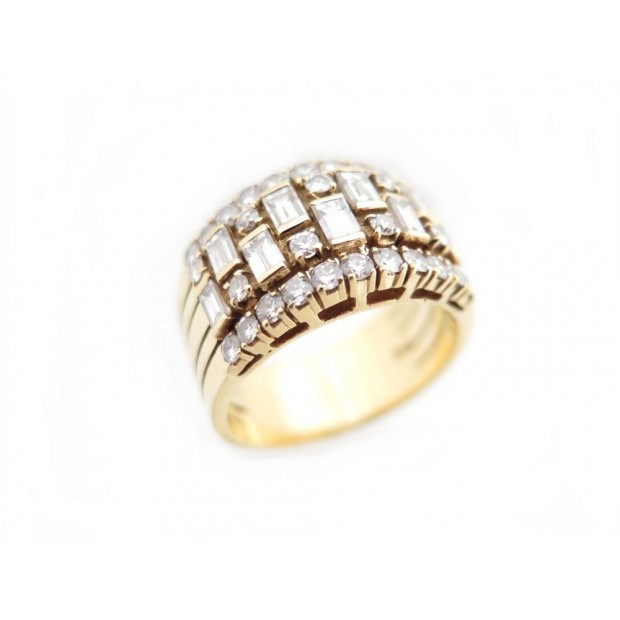BAGUE OR JAUNE DIAMANTS
