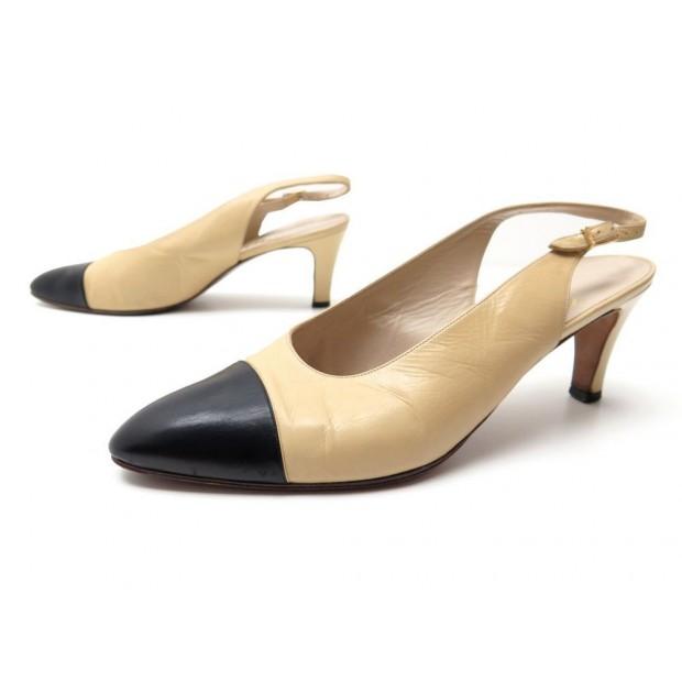 qualité chaussures élégantes sortie d'usine chaussures chanel a01374 42 escarpins en cuir