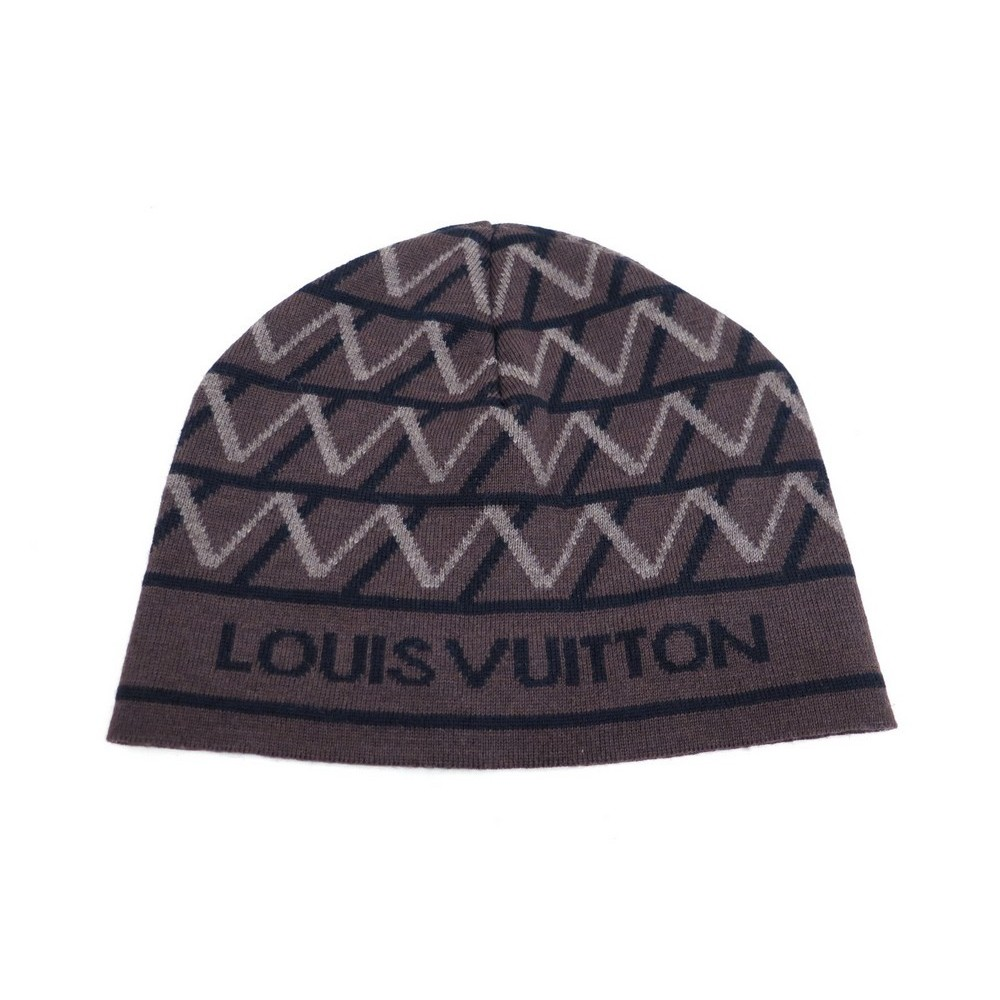 b75ed0e1b3d1 NEUF BONNET LOUIS VUITTON MAILLE LV ARCHITECTURE MARRON 350€. Loading zoom