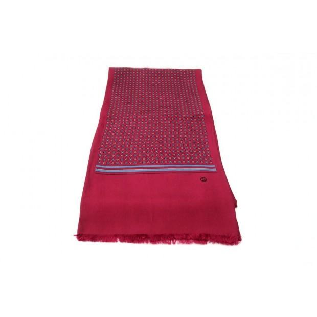 echarpe gucci foulard en soie bordeaux et bleu e285270cc3b