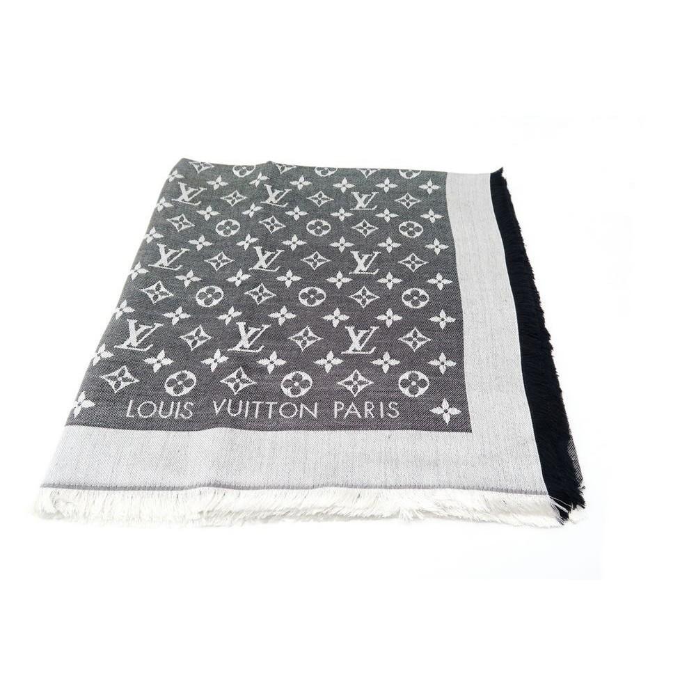 outlet 996da 65c5a foulard louis vuitton chale monogram denim m71378