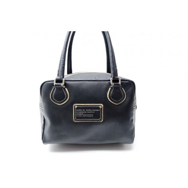 64457a5f2b sac a main marc by marc jacobs 30 cm en cuir noir
