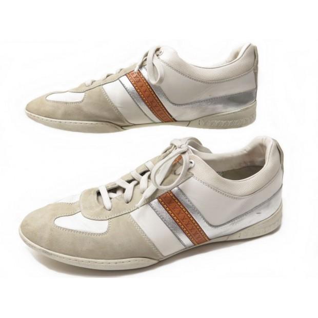 chaussures louis vuitton 7.5 42.5 baskets cuir daim f37c18163dd