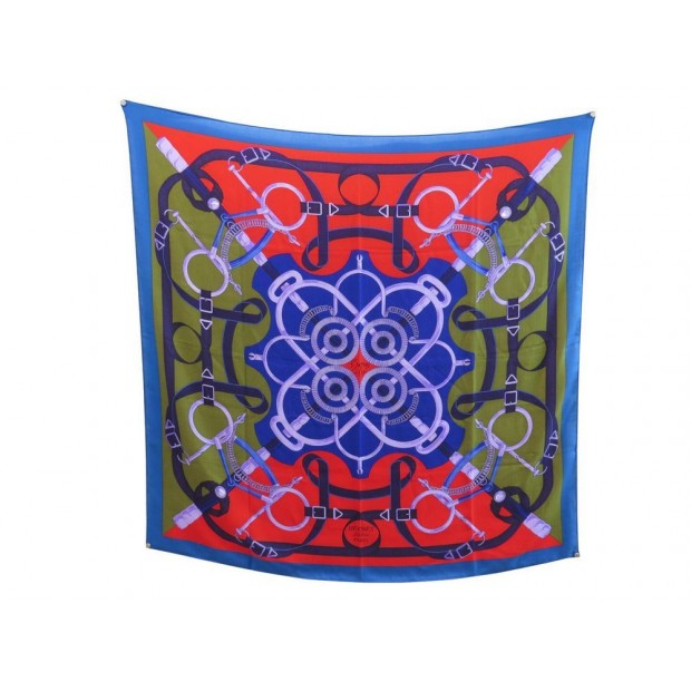 NEUF FOULARD CHALE HERMES EPERON D OR CARRE EN CACHEMIRE & SOIE SCARF 925€