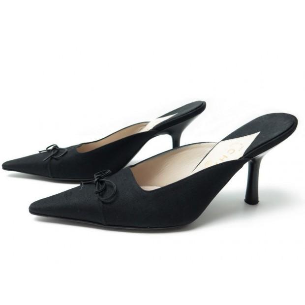 qualité offre spéciale moins cher chaussures chanel mules a talons 9.5b 39.5 escarpins
