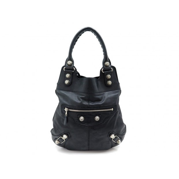 SAC A MAIN BALENCIAGA GIANT 21 SLIM HOBO 192911 EN CUIR NOIR BAG PURSE 1155€