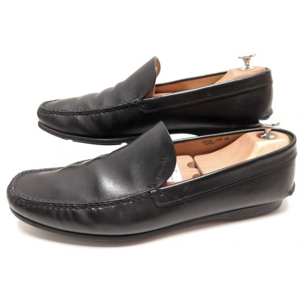 CHAUSSURES CHURCH'S KANE 9759 9.5 43.5 MOCASSINS CUIR NOIR LOAFERS SHOES 350€