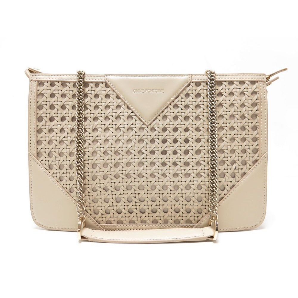 Sac A Main Anne Fontaine Bandouliere Cuir Tresse Loading Zoom