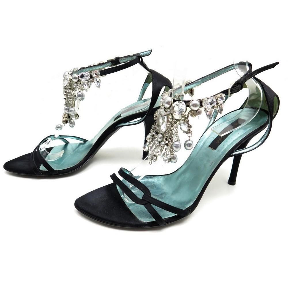 Sergio Rossi Escarpins Chaussures Noir 40 Satin En D9IWEH2Y