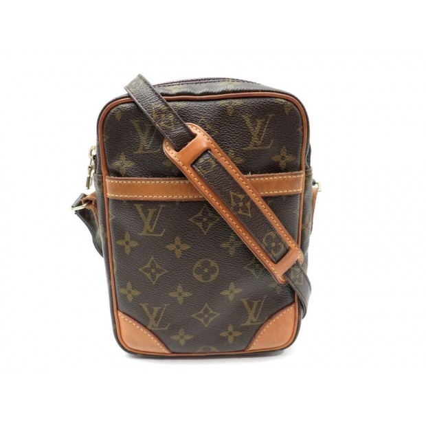 VINTAGE SAC A MAIN LOUIS VUITTON DANUBE BANDOULIERE MONOGRAM LV BAG PURSE 870€