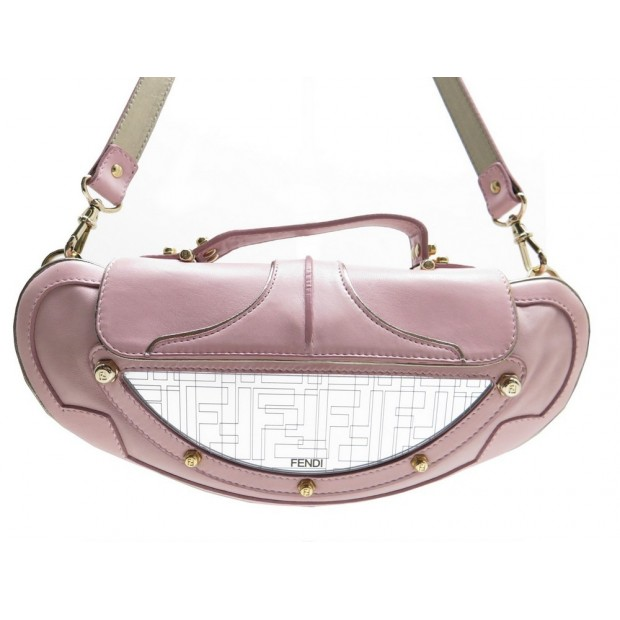 SAC A MAIN FENDI BORSA MINI VANITY BAG NAPPE ROSA 8BN135 POCHETTE ROSE 1200€