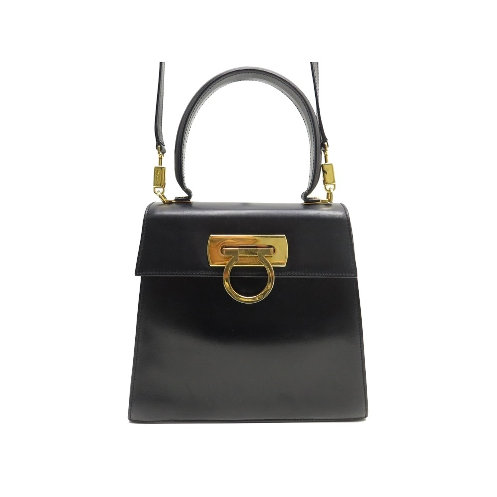 3c43977184aa SAC A MAIN SALVATORE FERRAGAMO 2-WAY CUIR NOIR 0212193 BANDOULIERE. Loading  zoom