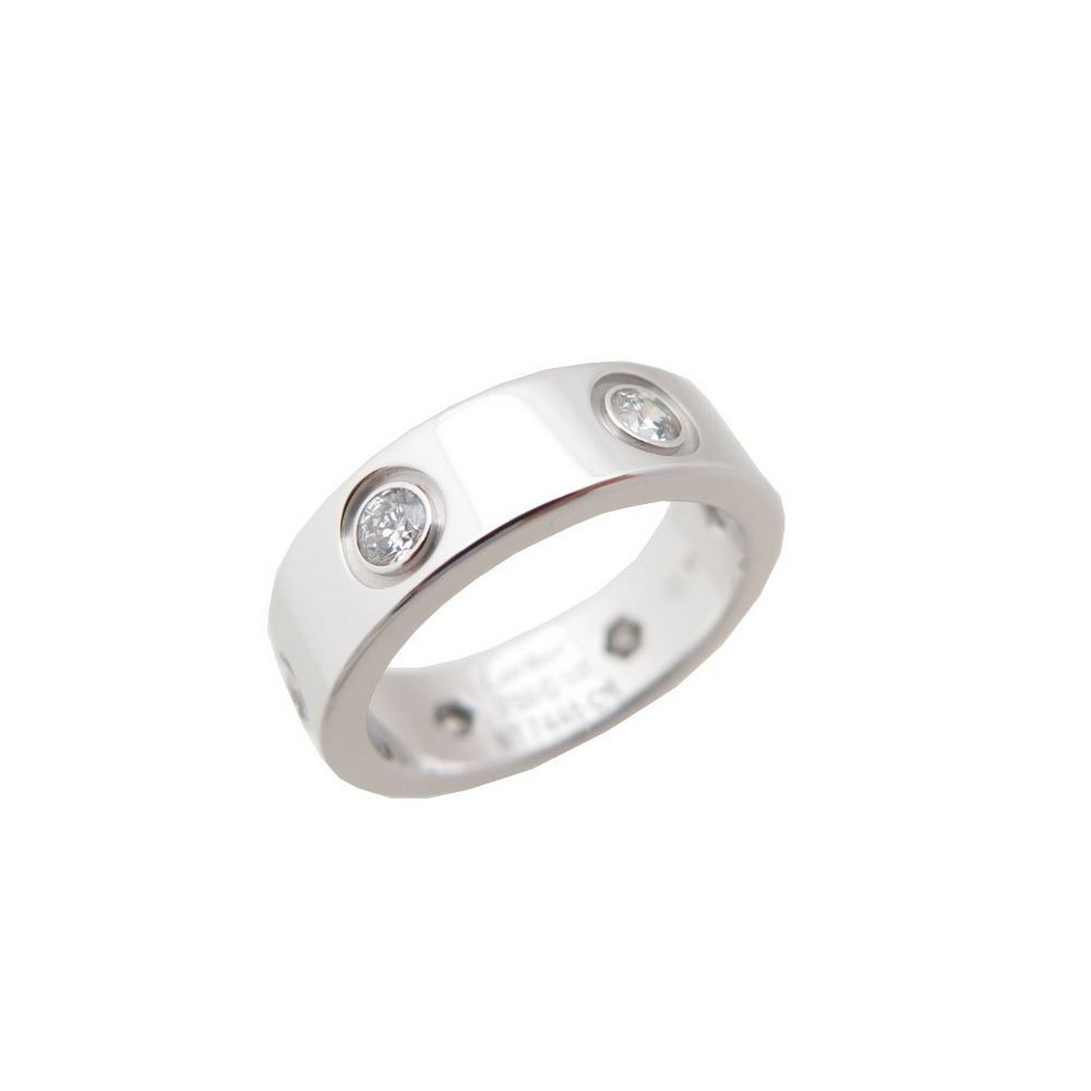 befd5ba185e NEUF BAGUE CARTIER LOVE 6 DIAMANTS OR BLANC TAILLE 50